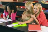 Female College Students In A Classroom — Stock Photo