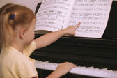 Child Learns To Play The Piano — Stock Photo