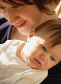 Mother Holds Baby — Stock Photo