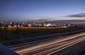 Evening highway — Stock Photo