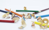 Pencil shavings — Stock Photo