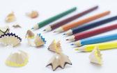 Virutas de lápiz — Foto de Stock