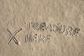 Sign on sand — Stock Photo