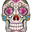 Skull, sugar skull — Stock Vector