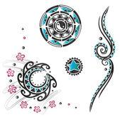 Haida, tattoo, tribal — Stock Vector