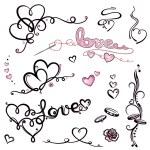 Valentines day, romantik, wedding — Stock Vector #31452985