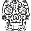 Skull, mexico, sugar skull — Stock Vector