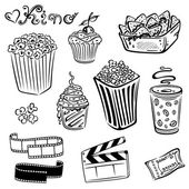 Cinema, movie, tv, film — Stock Vector