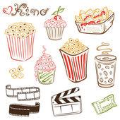 Cinéma, film, tv, film — Vecteur