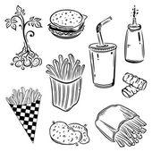 Potatoes, fast food — Stock Vector