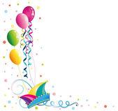 Carnival, balloons, confetti — Stock Vector