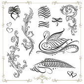 Kalligrafie, vintage, decoratie — Stockvector