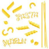 Pasta, noodles, cibo — Vettoriale Stock