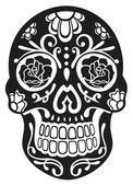 Skull, bones, sugar skull — Stock Vector