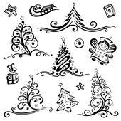 Christmas, vector set — Stock Vector