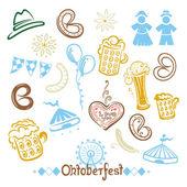 Oktoberfest vector set — Stock Vector