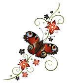 çiçekler, soyut, çiçek — Stok Vektör