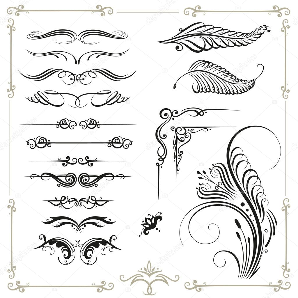 Calligraphy vintage decoration — stock vector