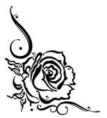 Rose, Blume, Grenze — Stockvektor