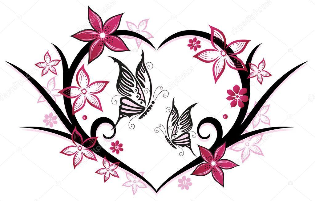Рисунки для девушки сердце