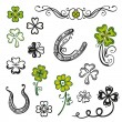 Clover, shamrocks, design elements — Stock Vector