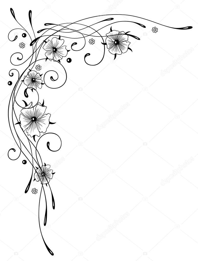 Nasturtium Calligraphy Flowers Stock Vector