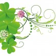 Clover, shamrocks, border — Stock Vector #31517745