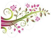 Flowers, leaves, spring — Stock Vector