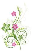 Element kwiatowy, wiosna i lato — Wektor stockowy