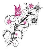 Vrille, papillon — Vecteur