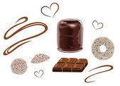 巧克力、 饼干 — 图库矢量图片