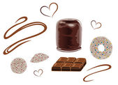 Choklad, våffla — Stockvektor