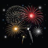 Sylvester fireworks — Stock Vector