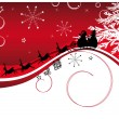 Santa claus background — Imagen vectorial