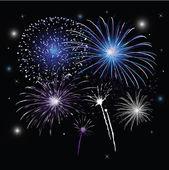 Sylvester, fireworks — Stock Vector