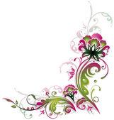 Confine d'epoca, fiori — Vettoriale Stock