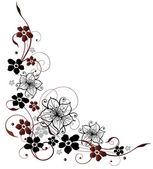 Abstraktní květiny — Stock vektor