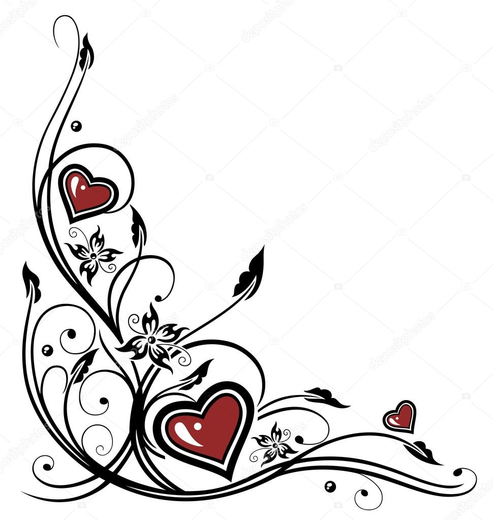hearts tribal tattoo stock vector christine krahl 45699041. Black Bedroom Furniture Sets. Home Design Ideas