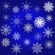 Decorative snowflake winter set — Stock Vector