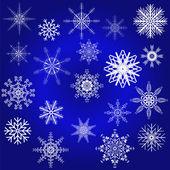 Decorative snowflake winter set — Stock Vector