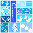 Christmas and Winter icons collection — Stock Vector