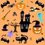 Set of Halloween elements. Vector — Stock Vector