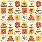 Geometric seamless pattern with hearts — Wektor stockowy