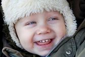 The boy laughing — Stock Photo