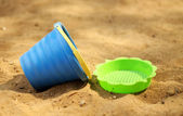 Toys in the sandbox — Stock Photo
