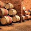 Barrels in the winery — Stock Photo