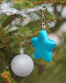 Christmas ornament on the Christmas tree — Stock Photo