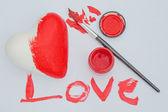 Geschilderde liefde — Stockfoto