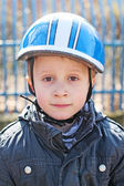 The bicycle boy — Foto Stock
