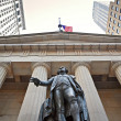 Federal Hall, Statue of George Washington — Stock Photo